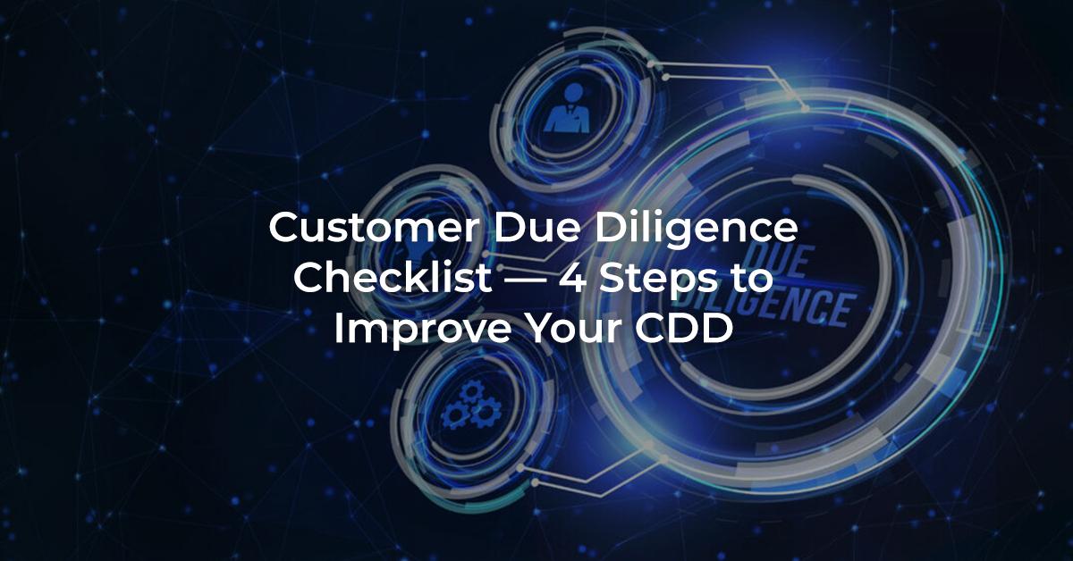 Customer Due Diligence Checklist Header